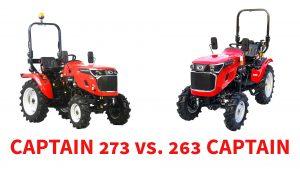 malotraktor captain 273 vs malotraktor captain 263 porovnanie - agromechanika